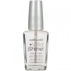 Wet n Wild Wild Shine Nail Color, 401A Clear Nail Protector, 0.43 fl oz