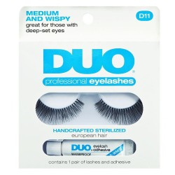 DUO Professional Eyelashes D11 Medium and Wispy