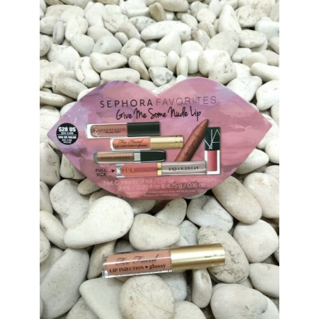 Too Faced Lip Injection Glossy in Spice Girl (pink nude) - BeautyKitShop
