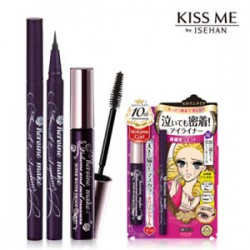 Kiss Me Heroine Make Long and Curl Mascara and smooth liquid eyeliner