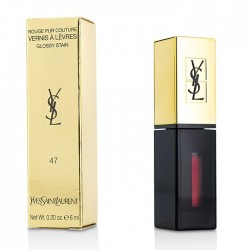YSL   Share  Rouge Pur Couture Vernis à Lèvres Glossy Stain 47 cramin tag