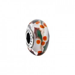 PANDORA Christmas Holly' Murano Glass Bead Charm