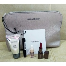 Laura Mercier Gold beauty Bag + Deluxe Size