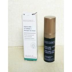 BIOSSANCE Squalane + Vitamin C Rose Mask - FREE DELUXE SIZE VIT C ROSE OIL