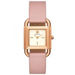 Tory Burch Women's Phipps Pink Leather Strap Watch