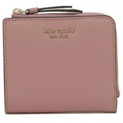 Kate Spade Cameron Small L-Zip Bifold Wallet Dusty Peony
