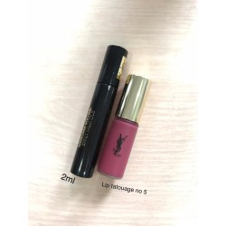 Bundle YSL Lip TATOUAGE + Mascara Travel Size