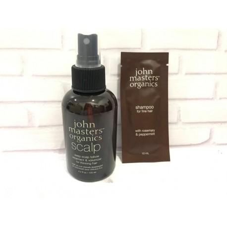 John Masters Organics Deep Scalp Follicle Treatment FREE SHAMPOO SACHET