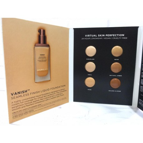 Hourglass Vanish Liquid Foundation sample Card