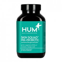 HUM Nutrition Skin Squad Pre+Probiotic Clear Skin Supplement 60Caps