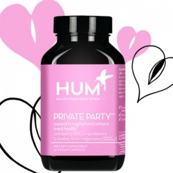 HUM Nutrition Private Party Supports Vaginal & Urinary Tract Health 30Caps