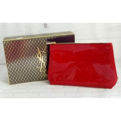 YSL Pouch Red Glossy Free Box