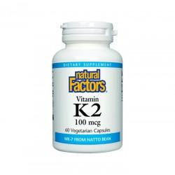 Natural Factors, Vitamin K2 MK7 100 mcg 60 Vegetarian Capsules